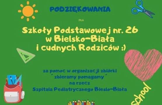 Obrazek newsa Podsumowanie zbiórki dla Szpitala Pediatrycznego w Bielsku – Białej