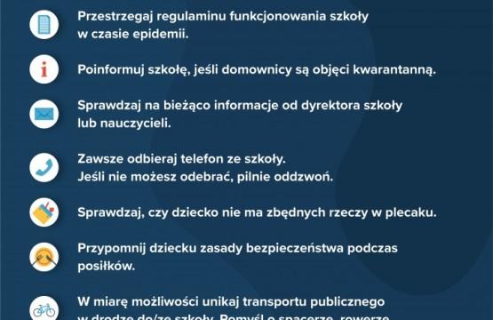 Obrazek newsa Bezpieczny powrót do szkoły - wskazówki dla rodziców.